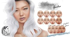 https://flic.kr/p/21d6MrF | !!OUT NOW!! | OUT NOW Chiharu skin appliers for FIORE Bento mesh head at  Okinawa Winter Festival 2017-2108