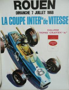 Affiche+originale+Rouen+Coupe+internationale+de+vitesse+1968