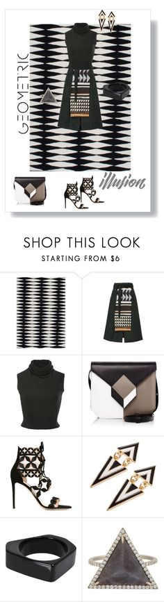"""Geometric Illusion"" by shoecraycray ❤ liked on Polyvore featuring nuLOOM, Stella Jean, Brandon Maxwell, Pierre Hardy, Nicholas Kirkwood, Marni and Monique Péan"