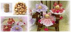 Aprende cómo hacer muñequitas con cuentas de madera y cuerda ~ lodijoella Lany, Dolls, Crafts, Creative Ideas, Desserts, Food, Baby Dolls, Craft, How To Make