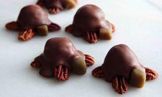 Receta para tortugas de caramelo, chocolate y pacana