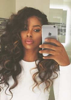 Half Up Half Down weave hairstyles is part of Best Half Up Half Down Hairstyles To Try In - Lange lockige Webart Curly Weave Hairstyles, Dope Hairstyles, Curly Hair Styles, Natural Hair Styles, Fashion Hairstyles, Natural Curls, Hair Laid, Love Hair, Hair Journey