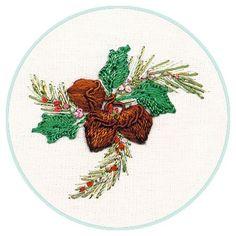 "** ""Christmas Acorns""  Brazilian Dimensional  Embroidery Pattern   @edmar-co"