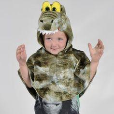 Boys Girls Kids Crocodile Cape Fancy Dress Halloween or Book Week Costume 3 6 YS