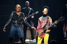 Prince and Mary J. Blige perform onstage during the 2012 iHeartRadio Music Festival at the MGM Grand Garden Arena on Sept. 22, 2012 in Las Vegas, Nev. | Billboard