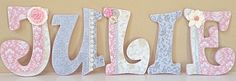 Custom Nursery Wall Letters- Baby Girl Nursery Decor- Wooden Hanging Letters - Personalized- Girl Room Decor- The Rugged Pearl on Etsy, $22.85 AUD