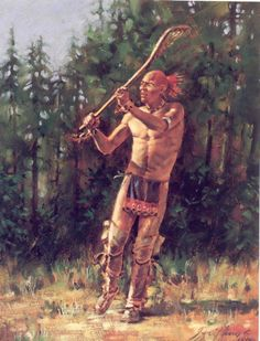 Lacrosse player by Robert Griffing Native American Paintings, Native American Pictures, Indian Pictures, Indian Paintings, Indian Pics, Native American Warrior, Native American History, American Indians, Seneca Indians