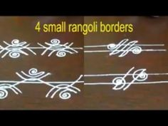 Rangoli Side Designs, Free Hand Rangoli Design, Rangoli Borders, Small Rangoli Design, Rangoli Patterns, Rangoli Designs Images, Rangoli Designs Diwali, Kolam Rangoli, Beautiful Rangoli Designs