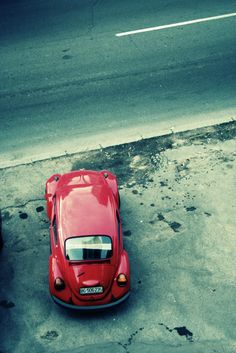 #red #car #cars #belgrade #street #retro #vintage #photography