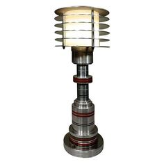 Machine Age Table Lamp by Walter Von Nessen | From a unique collection of antique and modern table lamps at https://www.1stdibs.com/furniture/lighting/table-lamps/