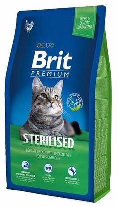 Корм для стерилизованных кошек Брит Премиум, меш. 8кг