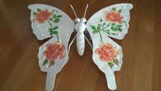 Vlinder met servetten bewerkt