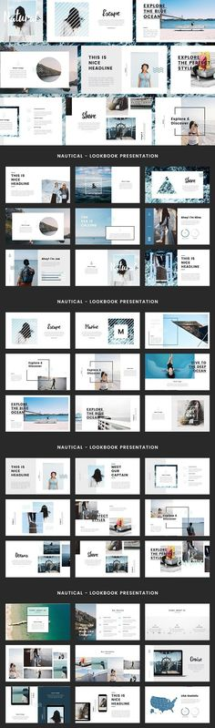 Nautical- Powerpoint Template. Presentation Templates. $12.00