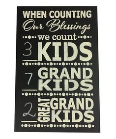 Look what I found on #zulily! 'When Counting Our Blessings' Chalkboard Wall Art #zulilyfinds