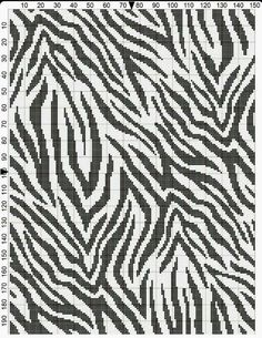 Zebra crochet chart that repeats! bigger and more stripes =] Crochet Cross, Crochet Chart, Filet Crochet, Crochet Stitches Patterns, Knitting Patterns, Beading Patterns, Cross Stitch Designs, Cross Stitch Patterns, Bargello Quilts