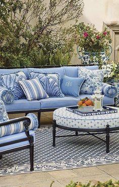 Color Coordination Interior Exterior Outdoor Furniture Sets Balconies