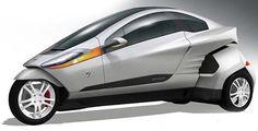 Best Cars Web Site - Venture One: triciclo elétrico ou híbrido faz curvas como uma moto