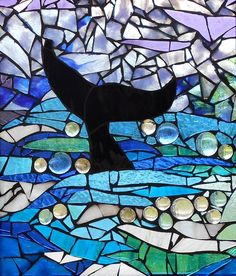 Mosaic Stained Glass - Whale Tail Glass Art