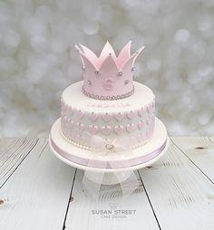 💫 - birthday /Communion/ Christmas cakes n tutorials - first birthday cake-Erster Geburtstagskuchen Birthday Cakes For Teens, Baby Birthday Cakes, 50th Birthday, Teen Cakes, Girl Cakes, Happy Birthday Princess, Celebration Cakes, Shower Cakes, Cake Designs