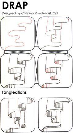 Laralina's tutorial: Phansy by Laura Williams, Certified Zentangle Teacher Doodles Zentangles, Tangle Doodle, Zentangle Drawings, Doodle Drawings, Doodle Art, Zen Doodle, How To Zentangle, Doodle Patterns, Zentangle Patterns