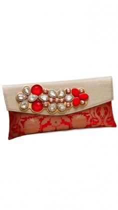 Beautiful Designer Clutch Bags and Purses from Indian Fashion Designer Pinky Saraf.    Shop the latest collections of Accessories and Apparel from leading Indian Designers at Strand of Silk