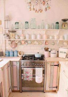 50 Beautiful Shabby Chic Kitchens Design and Decor #shabbychicdecorforsale