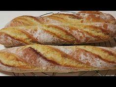 (175) baguettes maison très croustillantes comme chez le boulanger / sub fren eng #asmr - YouTube Bread Recipes, Homemade, Cake, Baguettes, Food, Breads, Deserts, Hipster Stuff, Cooking Recipes