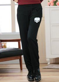 MY6226 Plus Size Japanese Style Skull Printing Harem Pants Black [MY6226] - $17.25 : China,Korean,Japan Fashion clothing wholesale and Dropship online-Be the most beautiful Lady