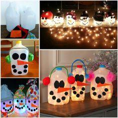How to make a milk jug snowman diy diy crafts do it yourself diy projects snowmen