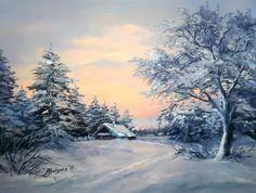 2 (700x528, 398KB) Dream Pictures, Winter Pictures, Art Pictures, Photos, Watercolor Landscape, Landscape Art, Landscape Paintings, Art Folder, Winter Painting