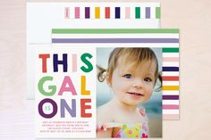 This Gal Kids Party Invitations by Baumbirdy at minted.com