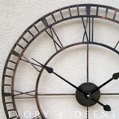 Large Wrought Iron Wall Clock, French Provincial Rustic Bronze, $89