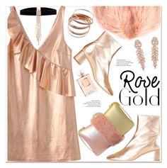 """""""So Pretty: Rose Gold Jewelry"""" by paculi ❤ liked on Polyvore featuring Topshop, Chanel and rosegold"""