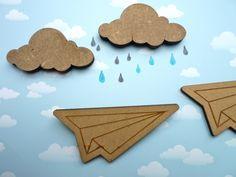 ♥ cloud brooch from mimameise on dawanda