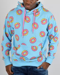 Odd Future clothing | Odd Future All Over Donut Hoodie - Blue