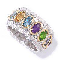 "OMG, I SO want this one - Gems en Vogue II Multi-Gemstone ""Carousel"" Eternity Band Ring"