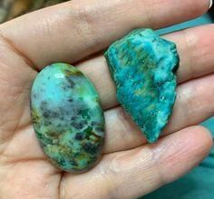 Chrysocolla cabochon and rough chrysocolla flat back gem - DIY jewelry supply for beading, macrame, soutache, wire wrapping, bead embroidery Beaded Dragonfly, Gems For Sale, Boho Jewelry, Unique Jewelry, Diy Jewelry Supplies, Gem S, Star Patterns, Beaded Embroidery, Leather Craft