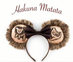 Simba Ears Lion King Ears Mouse Ears Inspired by Diy Disney Ears, Minnie Mouse, Disney Mickey Ears, Disney Day, Disney Trips, Disney Stuff, Disney Headbands, Ear Headbands, Disney World 2017