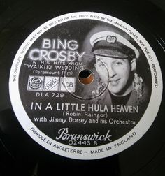 Bing Crosby with The Tommy Dorsey Orchestra in 1937. Just in time to play at a wedding in Cornwall.  #78record  #retro #weddingdj #cornwallwedding  #vintage #dj #cornwall #wedding