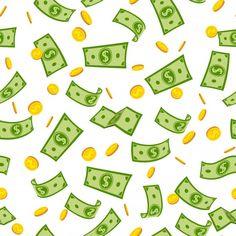Rain Cartoon, Motion Design, Rain Illustration, Money Template, Raining Money, Perspective Sketch, Gold Stock, Green Paper, Cute Doodles