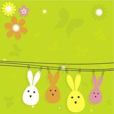 Suspendus dans le jardin, ces petits lapins attendent le beau temps… et la fête de Pâques.