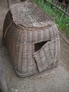 medieval wicker chicken coop, photo by Bruce Sterling via Flickr