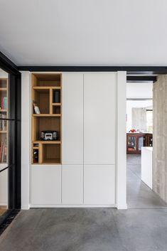Gallery of MILU / Qatarchitecten - 10 : Gallery of MILU / Qatarchitecten - 10 Furniture Design, Home Interior Design, Cabinet Design, Interior Furniture, Home Office Design, Cupboard Design, Small Space Interior Design, Hallway Designs, House Interior