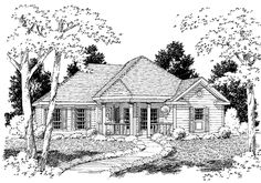 Cottage House Plan with 1405 Square Feet and 3 Bedrooms from Dream Home Source | House Plan Code DHSW09544
