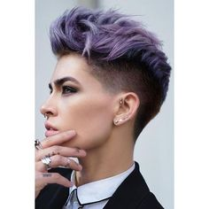 33 Stylish Undercut Hair Ideas for Women ❤ liked on Polyvore featuring accessories and hair