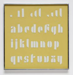 I came across Josef Albers' fonts at the Bauhaus exhibit at the Barbican this weekend.  This font is still timeless.