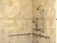 Accessible Shower Design - photo tour of accessible showers built by Stanton Homes.