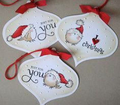 three umbrellas: Winter Wonderland tags