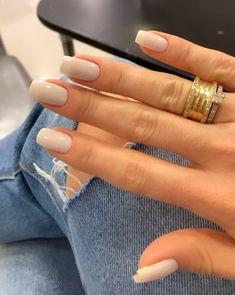 Gorgeous Nails, Pretty Nails, Les Nails, Shoe Nails, Cute Nail Art Designs, Minimalist Nails, Stylish Nails, Simple Nails, Natural Nails