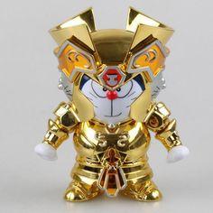 Japan  Doraemon DoraCat Gemini Saint Seiya Myth Cloth Gold Ex Gemini PVC anime cartoon Action Figure Collectible Model Toy T5396